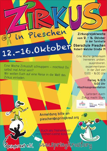 Zirkus in Pieschen im Oktober 2015.